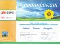 Сертификат участника конференции «Тенденции развития современной реставрационной стоматологии».