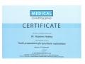 Сертификат от Medical consulting group о прохождении научно-практического курса на тему «Tooth preparations for prosthetic restorations».