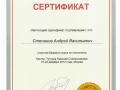 Сертификат участника базового курса по гнатологии.