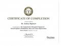 Сертификат, подтверждающий прохождение обучения по программе «Комплексная программа обучения по имплантологической реабилитации, костной и тканевой регенерации».